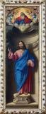 Венеция - Христос спаситель Girolamo di Santacroce (1530 до 1556) в Vigna della Сан Francesco церков Стоковое фото RF
