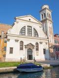 Венеция - церковь Chiesa di Сан Trovaso Стоковое Изображение