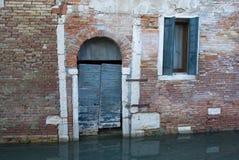 Венеция - acqua alta, Италия Стоковые Фото