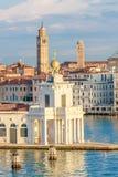 Венеция, della Dogana di Конематка Punta Стоковые Фото