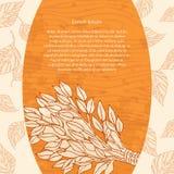 Веник березы для ванны на деревянной предпосылке Конструируйте знамена шаблона, карточки, карточки для сауны, ванны Место для tex Стоковая Фотография