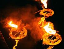 3 венка горя на воде в вечере Стоковые Фото