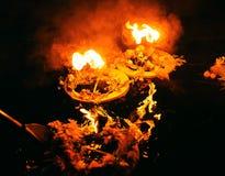 3 венка горя на темной воде в вечере Стоковые Изображения RF