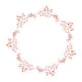 Венок акварели кружевной флористический Стоковые Изображения