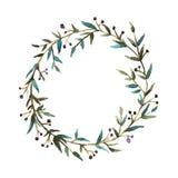 Венок акварели флористический бесплатная иллюстрация