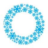 Венок вектора снежинки бесплатная иллюстрация