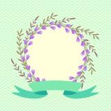 Венок весны конструкция предпосылки флористическая идеально использует вектор ваш Стоковые Фото