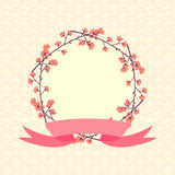 Венок весны конструкция предпосылки флористическая идеально использует вектор ваш Стоковое Фото
