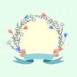 Венок весны конструкция предпосылки флористическая идеально использует вектор ваш Стоковая Фотография RF