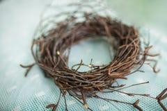 Венок ветвей, гнездо для птиц Стоковое Изображение RF