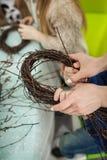 Венок ветвей, гнездо для птиц Стоковая Фотография RF