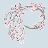 Венок вишневого цвета иллюстрация вектора
