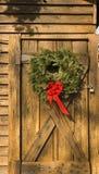 венок двери амбара Стоковые Фото