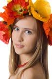 венок девушки цветка невиновный Стоковая Фотография