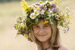 венок девушки цветка Стоковая Фотография