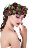 венок девушки цветков Стоковые Фото