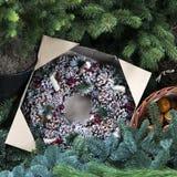 Венок ели рождества Стоковое Изображение RF