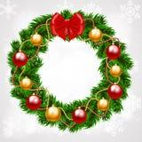 Венок ели рождества Стоковые Изображения
