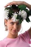 венок женщины цветка Стоковые Фото