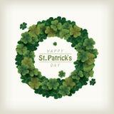 Венок клевера для праздновать день ` s St. Patrick иллюстрация вектора
