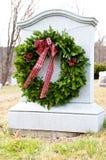 Венок Кристмас в кладбище Стоковое Фото