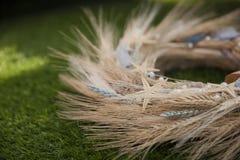 Венок крупного плана пшеницы ушей Стоковое Фото