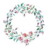Венок малых розовых роз бесплатная иллюстрация