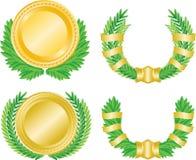 венок медали лавра Стоковая Фотография