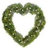 Венок омелы сердца форменный Стоковое фото RF