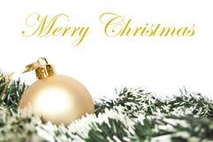 венок орнамента рождества золотистый Стоковые Фотографии RF