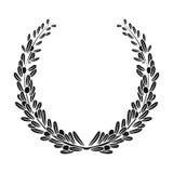Венок от оливковых веток Оливки определяют значок в черной сети иллюстрации запаса символа вектора стиля бесплатная иллюстрация