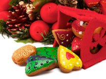 венок печений рождества Стоковое Изображение RF