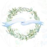 Венок приглашения свадьбы Стоковые Фотографии RF