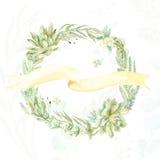 Венок приглашения свадьбы Стоковое Изображение RF