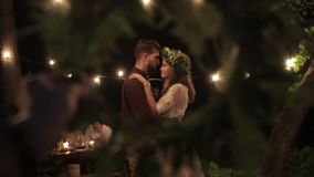 Венок против пар любовника танцев предпосылки акции видеоматериалы