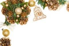 венок рамки рождества Стоковые Фотографии RF