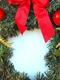 венок рамки рождества Стоковая Фотография RF