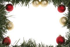 венок рамки рождества Стоковое фото RF