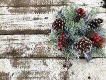 венок рождества декоративный Стоковые Изображения