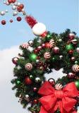 венок рождества праздничный стоковые изображения rf