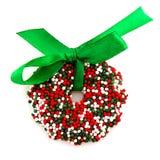 венок рождества шоколада Стоковые Изображения RF