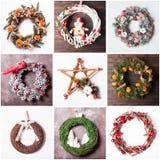 Венок рождества handmade Стоковые Фото