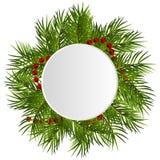 Венок рождества ветви иллюстрация штока