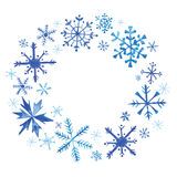 Венок рождества зимы в акварели Стоковые Фотографии RF