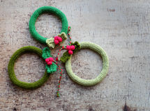 Венок рождества, праздник украшения Xmas Стоковая Фотография