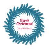 Венок рождества сделанный ветвей ели Стоковые Изображения