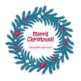 Венок рождества сделанный ветвей ели Стоковое фото RF