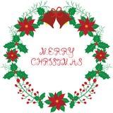 Венок рождества с колоколом Стоковое Изображение
