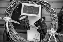 Венок рождества хоккея Стоковое Фото