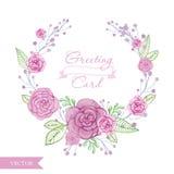 Венок роз цветка акварели Стоковое Фото